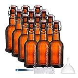 Chef's Star 16 Oz Empty Beer Bottles, Swing...