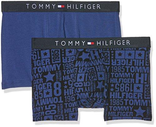 Tommy Hilfiger Herren Icon Trunk 2 Pack Block Logo Boxershorts, Blau (Blueprint-PT/Blueprint-PT 493), Small (2er Pack)