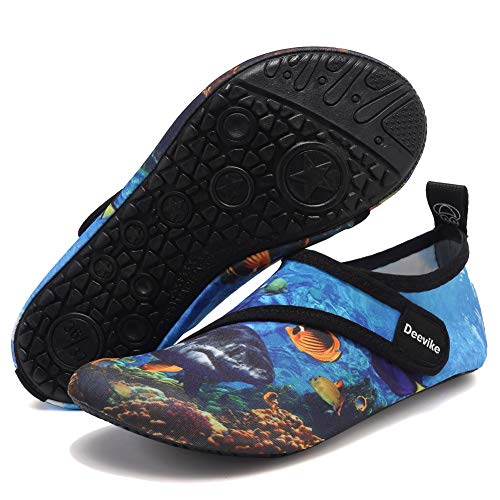 Deevike Damen Wasserschuhe Herren Schwimmen Unisex Verstellen Strap Barefoot Aqua Socken für Beach Pool Surfen Yoga Deepsea Straps 42/43