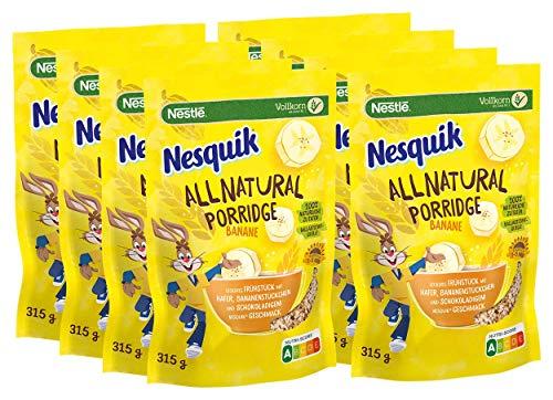 NESQUIK All Natural Porridge Banane mit Haferflocken, 8er Pack (8 x 315g)