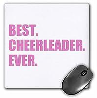 ピンクBest Cheerleader Ever–GreatestヘッドまたはチームチアリーディングGirl–マウスパッド、8× 8インチ(MP 179766_ 1)