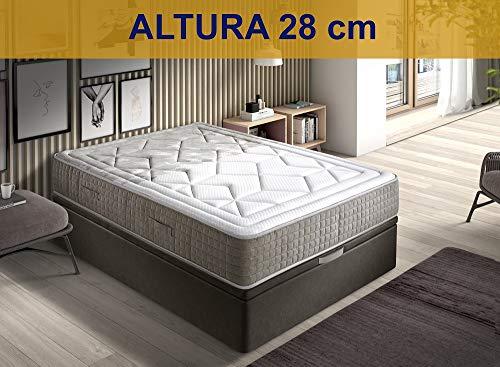 Relaxing-Confort AMZP18 135X190 Colchón muelles ensacados viscoelásticos, Poliuretano