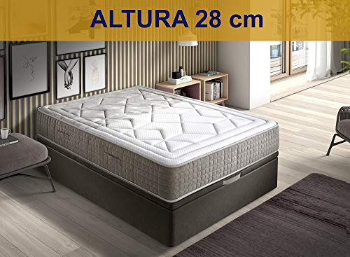 Colchon 140 X 200 Muelles Ensacados Y Grafeno Marca Relaxing-confort