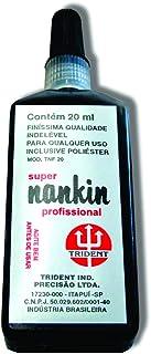Tinta Nanquim 20 ml, Trident TNF-20, Preto