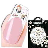 JUSTFOX - Pegatinas 3D para uñas, diseño de corona de flores, cornamentas.