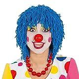 Faschingsperücke Clown Wolle blau