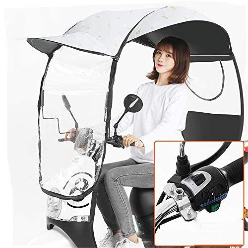 BGSFF Cubierta para sombrilla eléctrica para Motocicleta, sombrillas de protección contra la Lluvia y el Sol, Capota Transparente, Cubierta Impermeable y a Prueba de Lluvia para Scooter