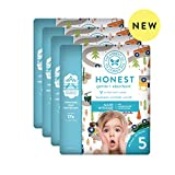 The Honest Company Baby Diapers with TrueAbsorb Technology, Winding Roads, Size 5, 80 Count