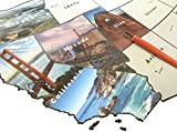 United States of America State Scratch Off Travel Map Large 32 by 24 Inch Poster Using Customized Photographs...