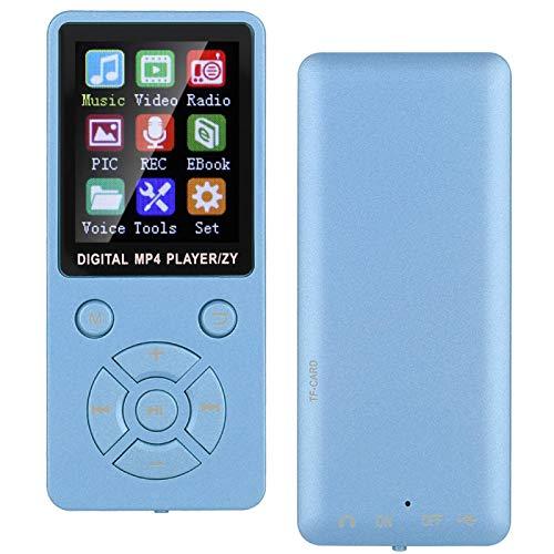Socobeta Jugador, Siete Botón Diseño Reproductor Mp3 con para Radio de vídeo (azul)