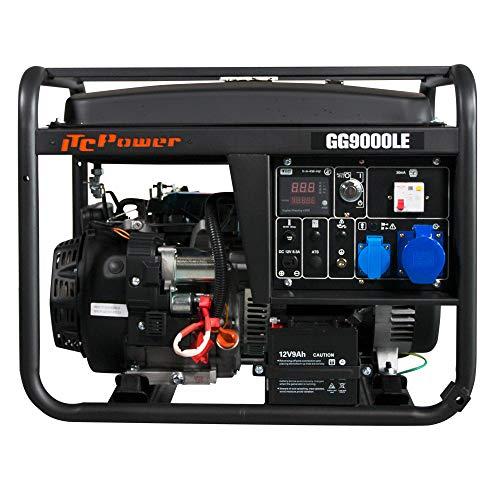 ITCPOWER GG9000LE Generador Gasolina, 6000 W, 230 V, Negro