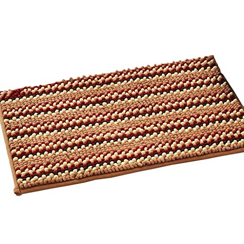 Fantastic Deal! CarPet Floor mats Home Absorbent Bathroom mats Home (Color : Brown, Size : 5080cm)