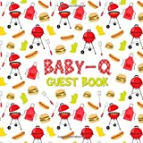 Baby-Q Guest Book: BabyQ Sign in Journal for Baby Shower - Cute Babyshower Ba-B-Q Barbecue Picnic Red Gingham Keepsake Memory Book & Visitor Registry ... Gift Log - Name and Address - Square Size