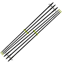 "e5e10 35"" Bow Fishing Fish Arrows Arrowheads with Durable Steel Replaceable Torpedo Tip and Black Arrow Point, 6pcs"