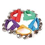 Schellenarmband - 1 Paar - Handgelenk Glockenband mit 4 Glocken Musikinstrument für Kinder L:220 mm - 3851