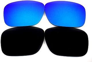 Galaxy Lentes de Repuesto para Oakley Holbrook Negro y Azul Color Polarizado 2 Pares, GRATIS S&H - Negro y Azul, Estándar