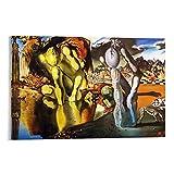 FSJD Cartel de Metamorfosis del Narciso del Artista Surrealista Español Salvador Dalí Metamorfosis de Narciso Pintura Decorativa Lienzo para Pared Arte de Salón Carteles Cuadro Dormitorio 30 x 45 cm