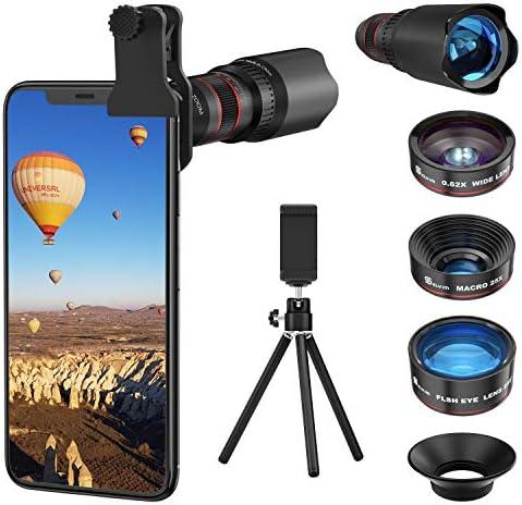 Selvim Phone Camera Lens Phone Lens Kit 4 in 1 22X Telephoto Lens 235 Fisheye Lens 0 62X Wide product image