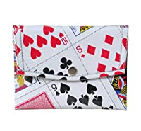 Snap Coin Purse Made From Real Playing Cards - Small affordable inexpensive fun gift for poker bridge solitaire addict player casino las vegas play card upcycle recycled magician magic tricks prime