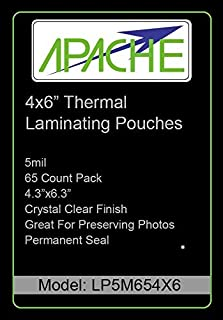 Apache Laminating Pouches, 5 mil (5mil, Letter, 300 Pack) (Renewed)
