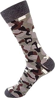 Calcetines otoñales de camuflaje para hombres Calcetines de algodón casuales Calcetines de skate