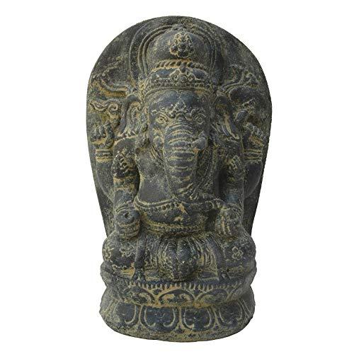 STONE art & more sitzender Ganesha, 27 cm, Steinfigur, Steinguss, frostfest