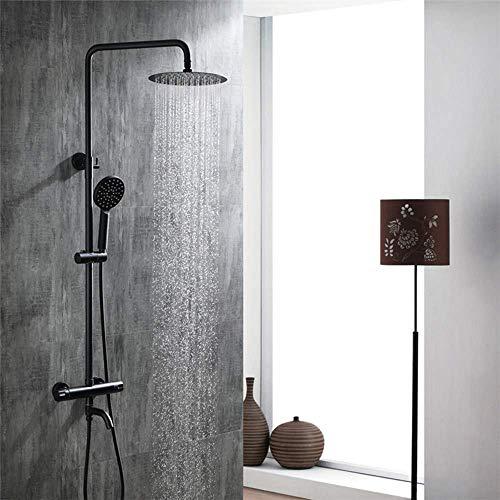 Ccgdgft thermostaat-badkraan met douchekop van messing, voor badkamer, douchekop