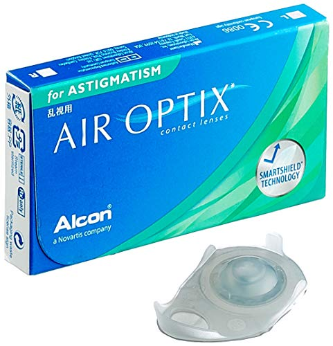 Alcon Air Optix for Astigmatism Monatslinsen weich, 3 Stück / BC 8.7 mm / DIA 14.5 / CYL 2.25 / ACHSE 40 / -0.5 Dioptrien