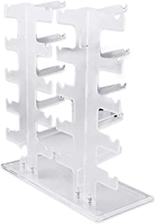 Transparent Acrylics Good Portability Durable 2 Row 10 Pairs Sunglasses Glasses Rack Holder Frame Display Stand(Transparent)