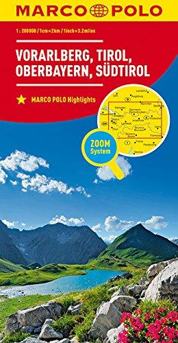 MARCO POLO Regionalkarte Österreich Blatt3 Vorarlberg,Tirol,Oberbayern 1:200 000: Wegenkaart 1:200 000 (MARCO POLO Karten 1:200.000)