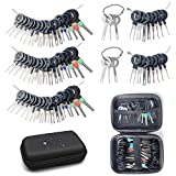 Terminal Removal Tool Kit, 76Pcs Terminal Ejector Kit for Car, Pin Extractor Tool Set Release Electrical Wire Connector Puller Repair Key Removal Tools