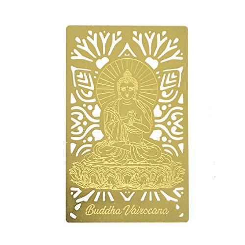 Feng Shui Buddha Vairocana Buddha Gold Card W4268