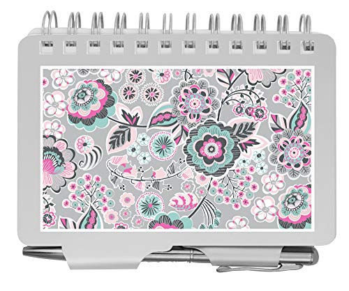 """Wellspring Password Book, Whimsical Blooms (Password Book-Whimsical), Silver Aluminum, 3.5"""" x 4.5"""" Size"""