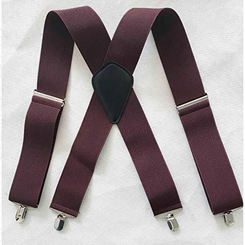 LLZGPZBD bretels mannen elastisch zwart X kruis vier clips riem 5 cm breed elastisch bretels 50 mm