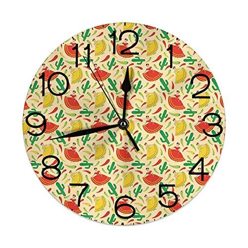 Reloj de Pared silencioso Sin tictac Redondo Decorativo, Bai