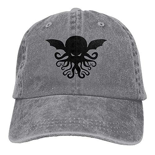 Hoswee Unisexo Gorras de béisbol/Sombrero, Cool Cthulhu Adult Cowboy Hat Baseball Cap Adjustable Athletic Custom Best Graphic Hat for Men and Women