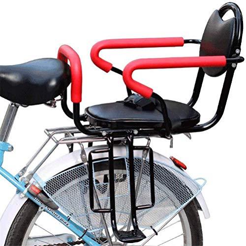DGHJK Asiento Trasero de Bicicleta para niños, Asiento de Bicicleta Desmontable con reposabrazos Antideslizantes y Pedales para Asiento de bebé de 2 a 6 años