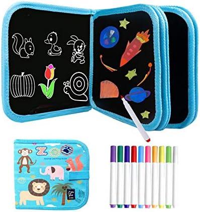 Kids Erasable Doodle Book Set Toddlers Activity Toys Reusable Drawing Pads Preschool Travel product image