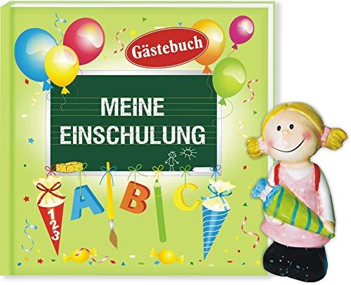 AV Andrea Verlag Album Meine Einschulung Gästebuch mit Spardose Mädchen pink Engel (Album Meine...