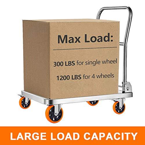 51VeqbDpk0L. SL500  - D&L Ruedas giratorias de 5 pulgadas, 1500 libras, ruedas de alta resistencia con freno de poliuretano, juego de 4 ruedas de bloqueo doble, naranja DL-I5-001