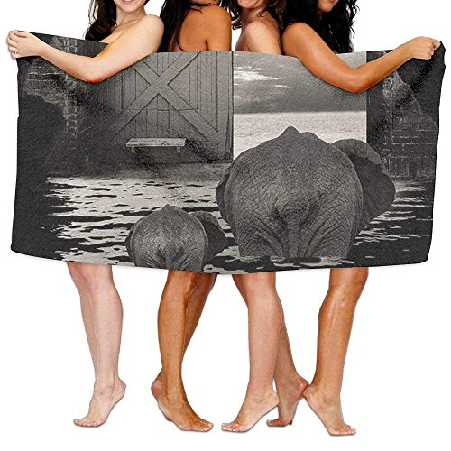 ETGBFHRDH Strandhandtuch Elefantenhöhle Ozean-Print