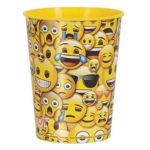 Unique Party - Vaso de Plástico - 473 ml - Diseño de Emoji (50606)