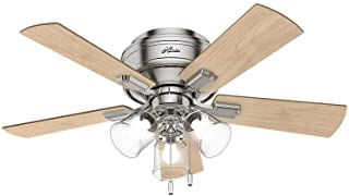 HUNTER 52154 Crestfield Indoor Low Profile Ceiling Fan...