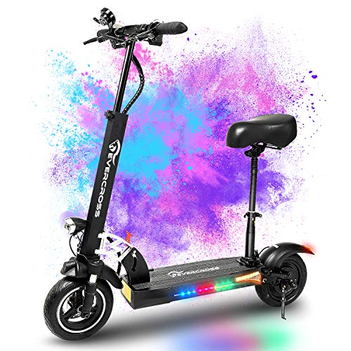 EVERCROSS Electric Scooter, Electric Scooter for Adults with 800W Motor, Up to 28MPH & 25 Miles, Scooter for Adults with Seat & Dual Braking, Folding Electric Scooter with 10'' Tire for Adults Teens