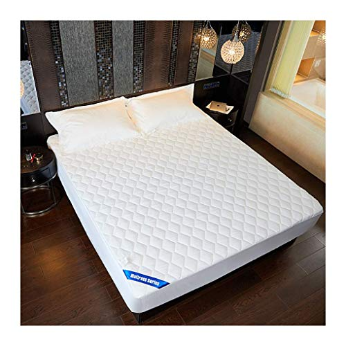 Queen Mattress Protector with Breathable Cotton Inner Core Hypoallergenic Mattress Pad Cover Quilted Fitted Mattres. (Size : Double)