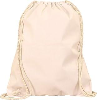 turnbeutel MyShirt Baumwoll Turnbeutel 38 x 46cm unbedruckt mit Kordelzug - 19 Farben - Jutebeutel Oeko-TEX geprüft Gym Sack zum bemalen