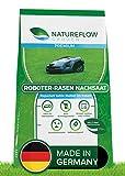 Semi di prato per robot tosaerba, 1 kg, Made in Germany, per robot erba, germinazione rapida e vital, auto-fertilizzante per giardini facili da pulire.