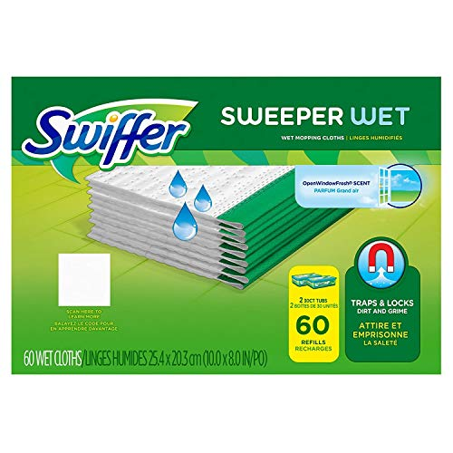 Swiffer Sweeper Wet Mopping Cloth Refill, Mega Value Case (60 count)