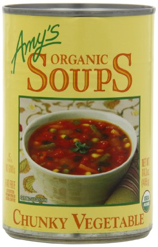Amy's Organic Chunky Vegetable Soup, Low Fat, 14.3-Ounce (Pack of 12)