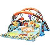 Liapianyun Bambino Che Striscia con i Giocattoli, Tappeto da Gioco con Arco Funzione Box dalla Nascita Disponibile,1